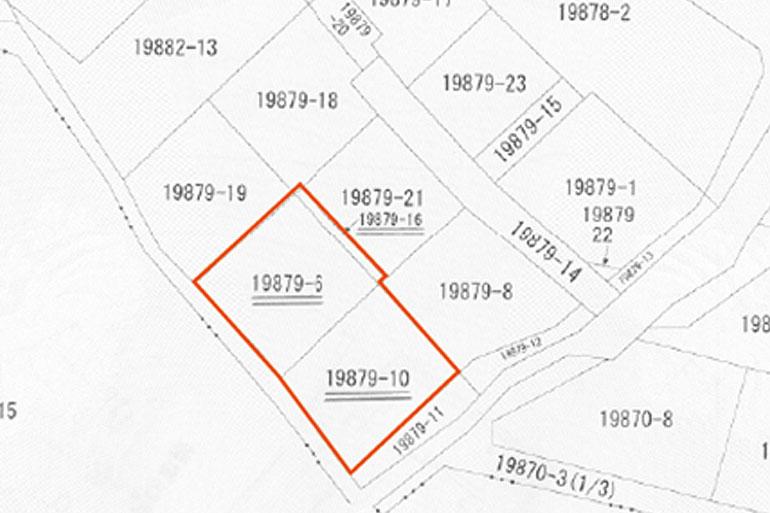 蜆塚2丁目区画図